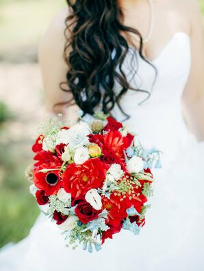 Bright Anemone Bridal Bouquet