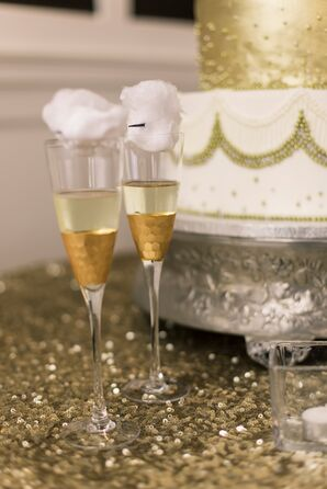 Glam Gold Champagne Flutes