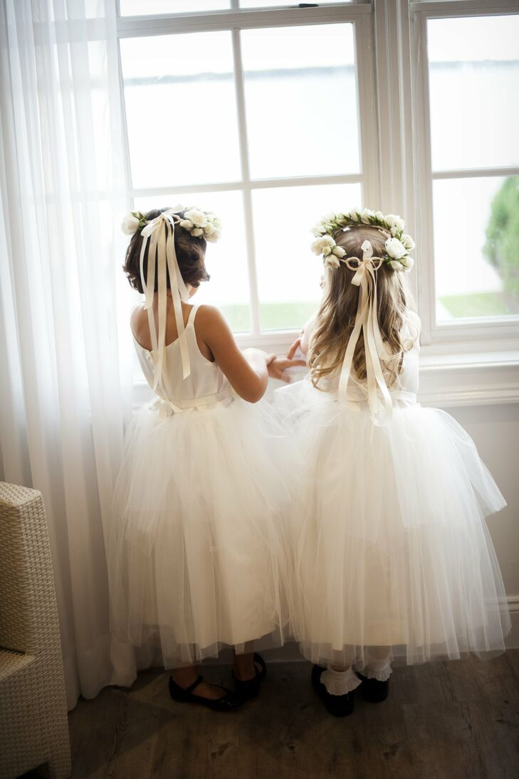 Flower Girls with Wreaths