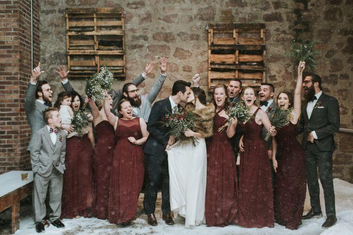 Crimson Bridesmaid Dresses