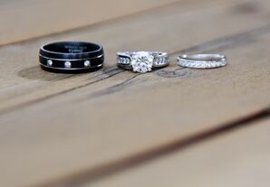 Black Titanium, Small Diamond Groom's Ring