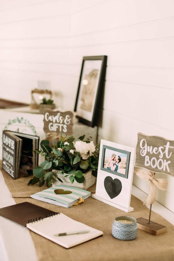 Rustic Wood and Burlap Guest Book Display