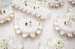 Glamorous All-White Wedding Reception
