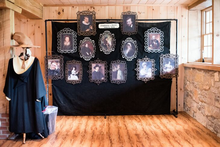 Vintage Portrait Photo Booth Backdrop