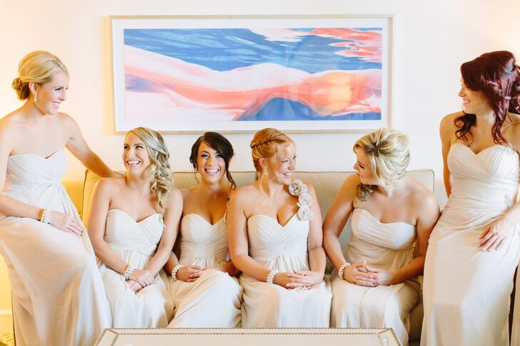 Strapless and One Shoulder Bridal Party Dresses