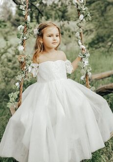 FATTIEPIE harper ivory Flower Girl Dress