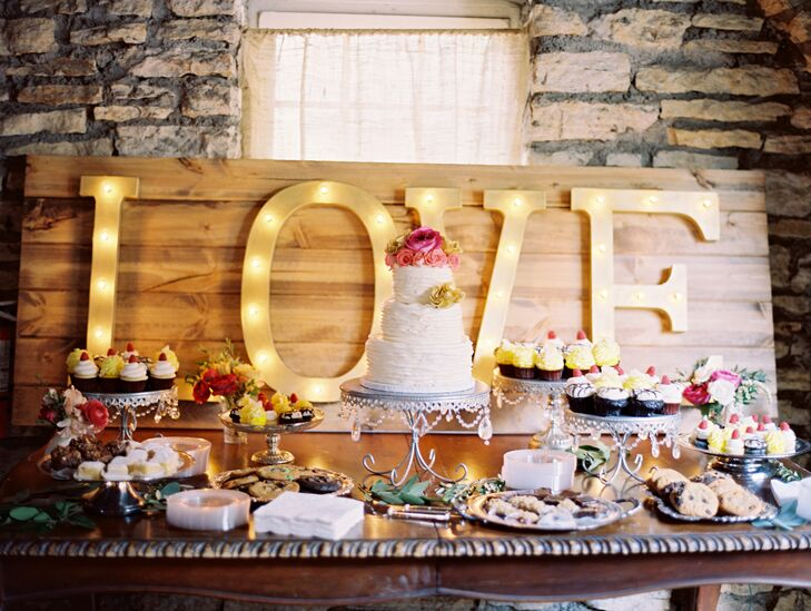 Marquee Lighting Dessert Table Backdrop