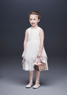 David's Bridal Flower Girl David's Bridal Style OP253 White Flower Girl Dress