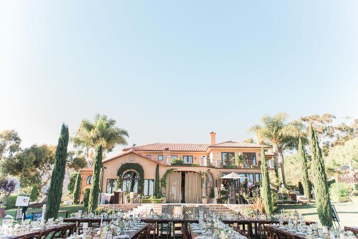 Cassidy and Cutter chose Villa Sancti Di Bella Vista in Malibu, California, for their ceremony and reception.