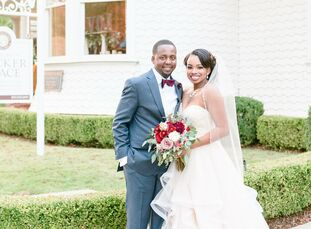 High school sweethearts Kimberlyn Granger (23 and a registered nurse) and Timothy Mbogo (23 and a tax accountant) celebrated their newlywed status at