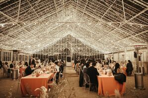 String Lights in Greenhouse Reception at Dos Pueblos Orchid Farm
