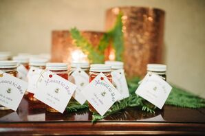 Honey Jar Wedding Favors with Custom Note