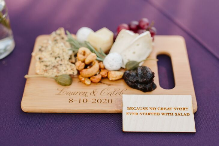 Cheese Board and Wooden Sign at Minimony in Colorado