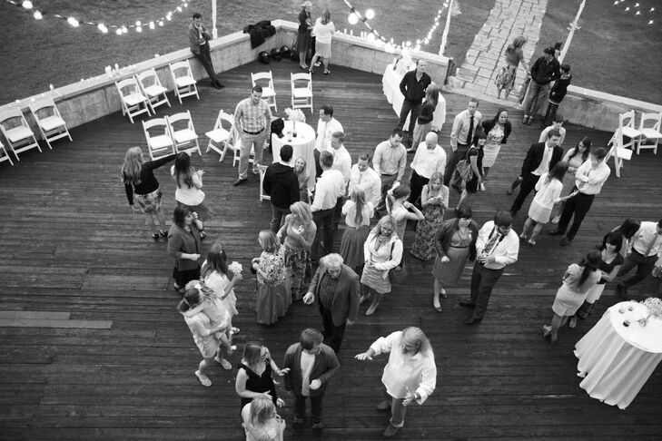 After dinner, guests took to the wooden outdoor dance floor for some more celebrating.