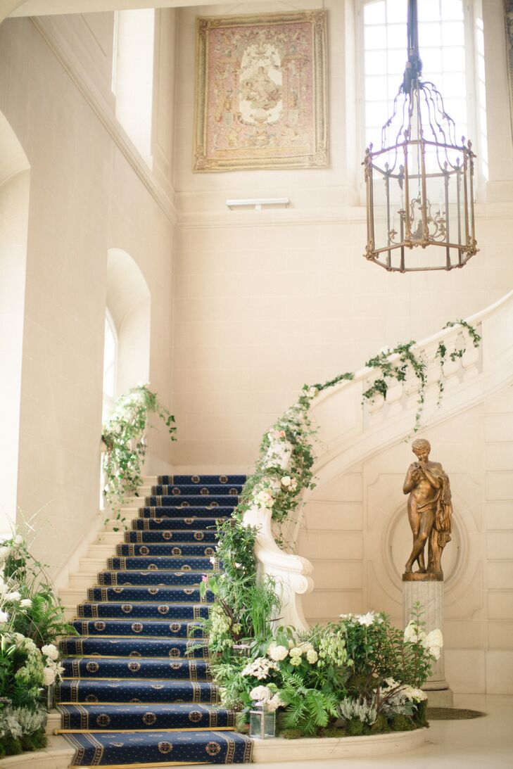 Vine-Wrapped Staircase