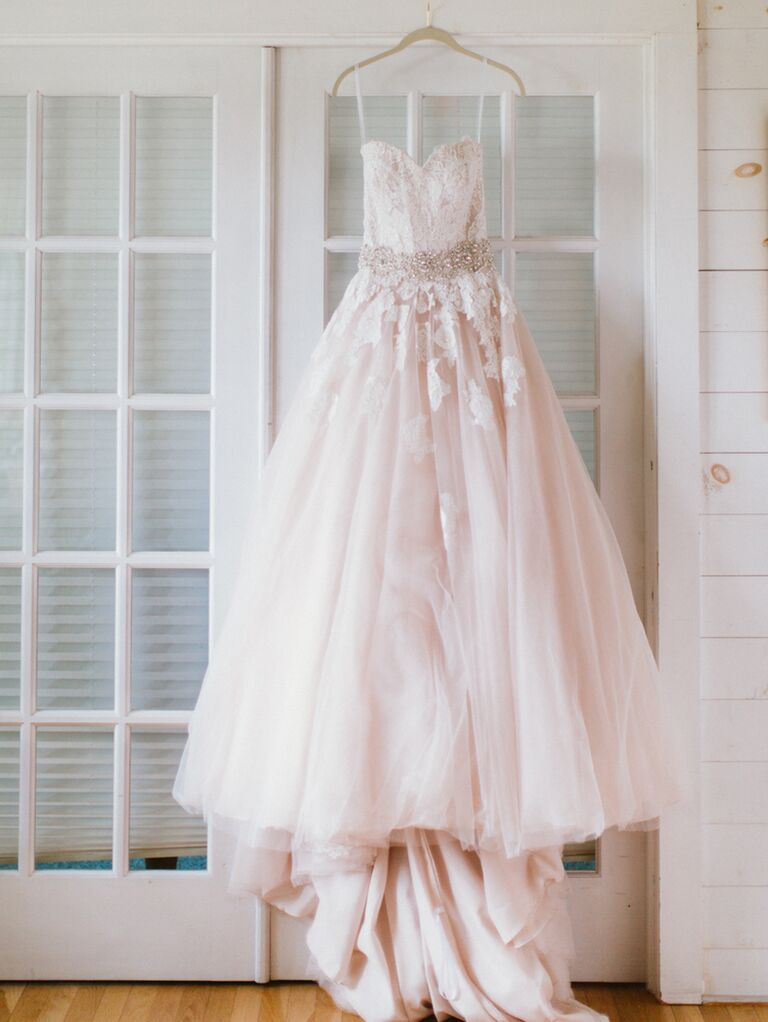 Allure Bridals Blush Pink Wedding Gown By