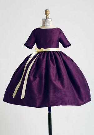 Elizabeth St. John Children Mia Purple Flower Girl Dress