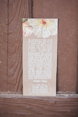 Kraft Paper Garden-Inspired Thank-You Card