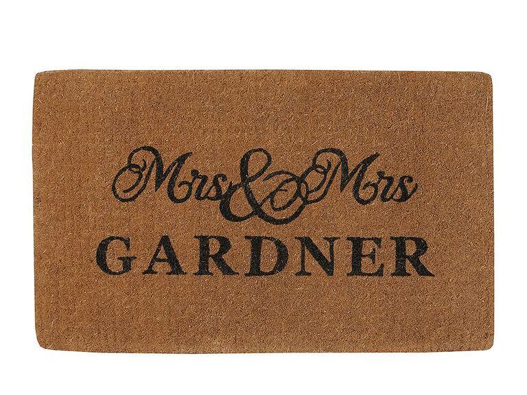 just married doormat