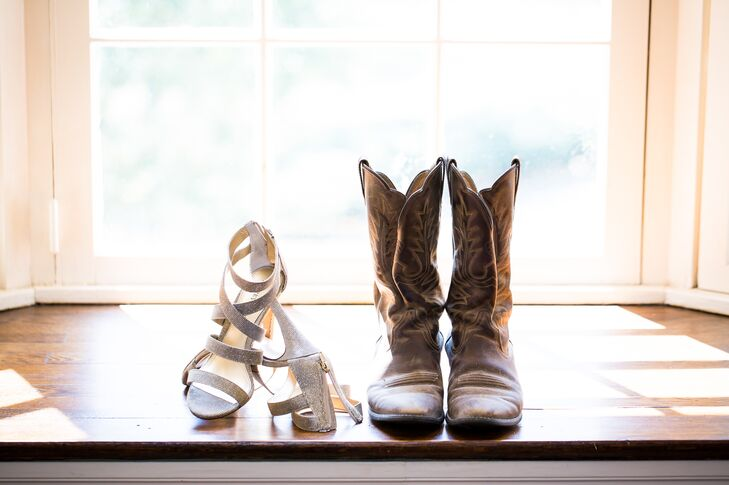 Wedding Heels and Rustic Cowboy Boots