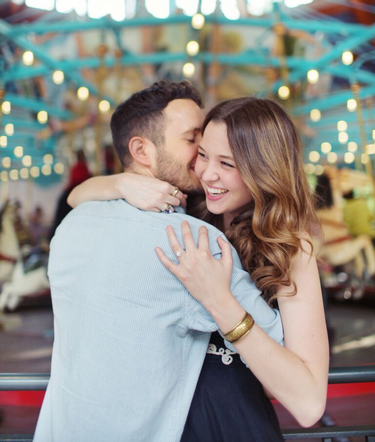 Carousel engagement photography