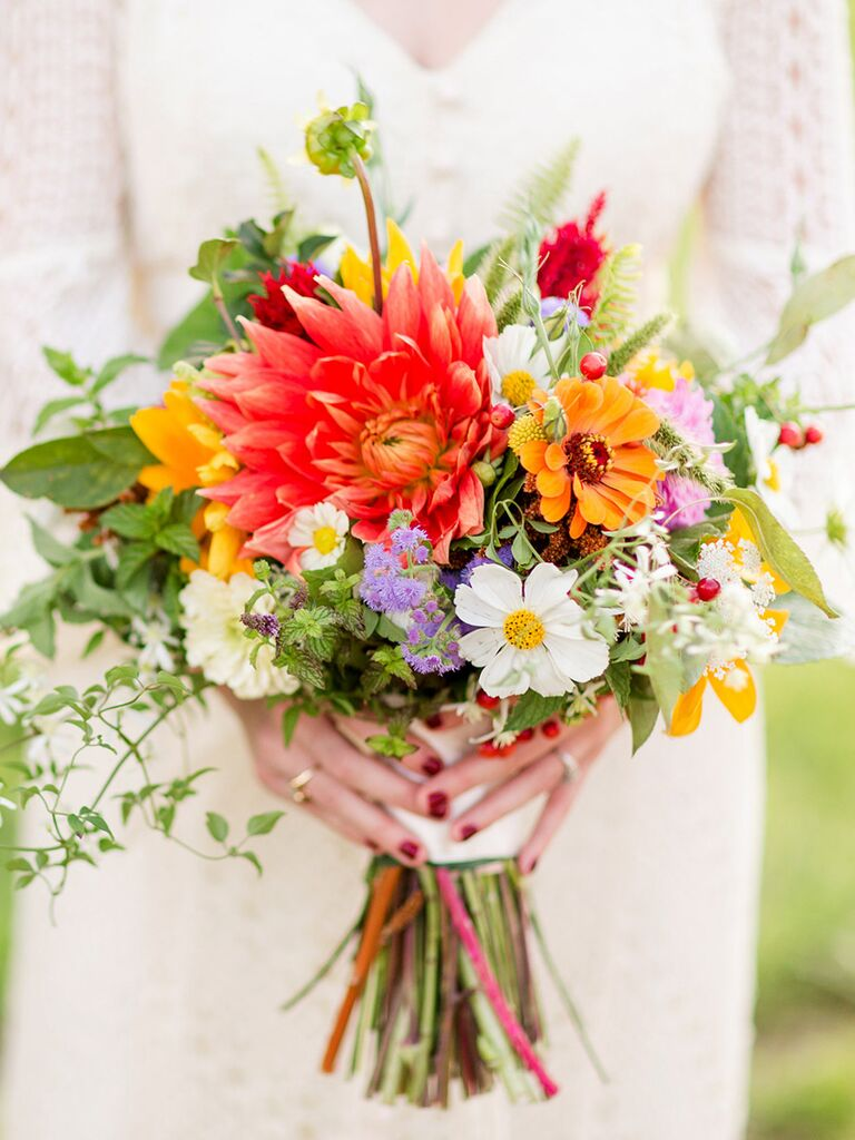 Bright Bridal Bouquets Are the Latest Wedding Flower Trend
