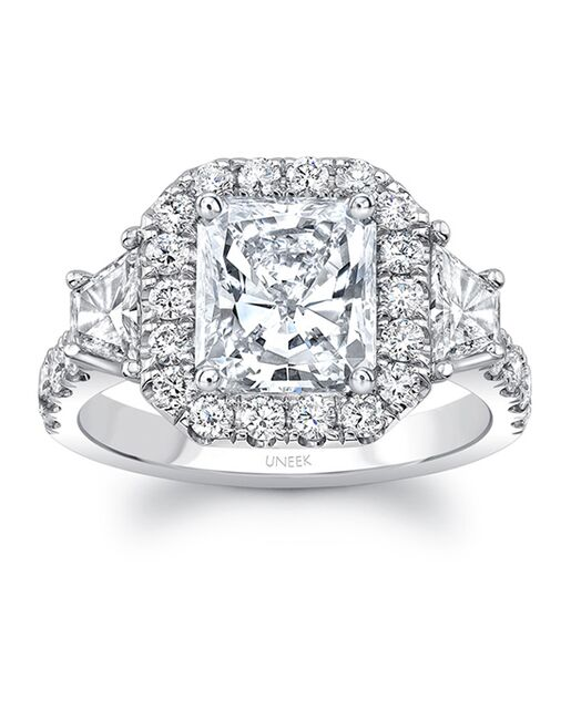 Uneek Fine Jewelry Elegant Radiant Cut Engagement Ring