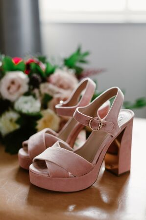 Pink Platform Tory Burch Heels