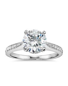 Monique Lhuillier Fine Jewelry Vintage Round Cut Engagement Ring