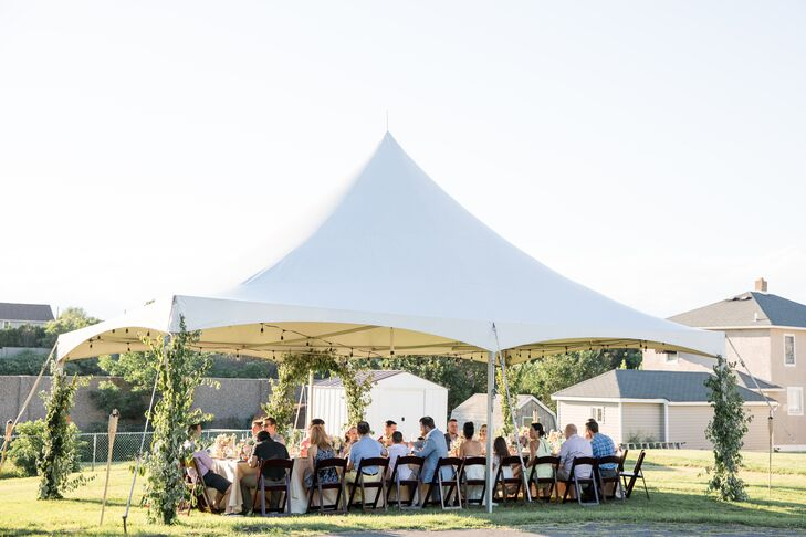 Intimate Tented Backyard Reception