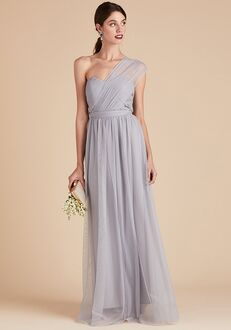 Birdy Grey Christina Convertible Dress in Dusty Blue Strapless Bridesmaid Dress