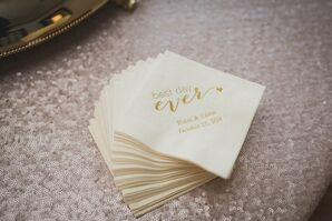 Personalized Gold Typography Cocktail Napkins
