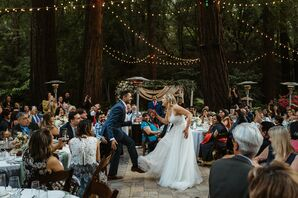First Dance in the Woods at Rustic California Wedding
