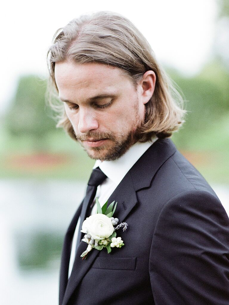 Ideas for men's wedding hairstyle