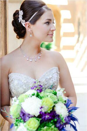 Bride Wearing Diamond Jewelry