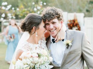 Ten months after Jessica Brinson and Rand Hendrix got engaged, the couple chose a place close to their hearts for their laid-back wedding: their home.