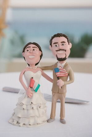 Whimsical Bride and Groom Cake Topper