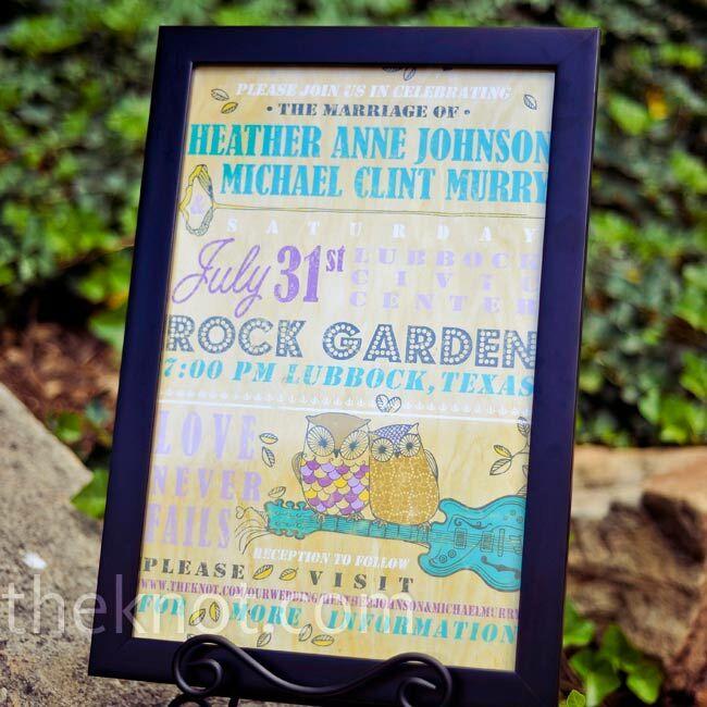 A friend designed these fun, poster-size invitations.
