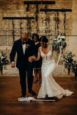 Ceremony at Urban Warehouse Wedding in Detroit, Michigan