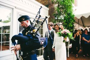 Bagpiper During Ceremony