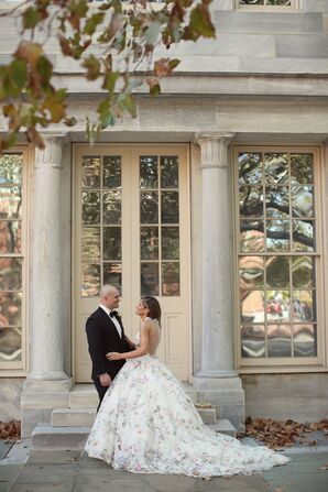 Elegant, Formal Bride and Groom in Philadelphia