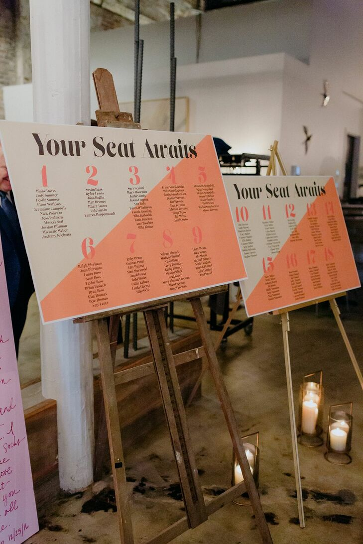 Orange Seating Chart at Wild Carrot in St. Louis, Missouri