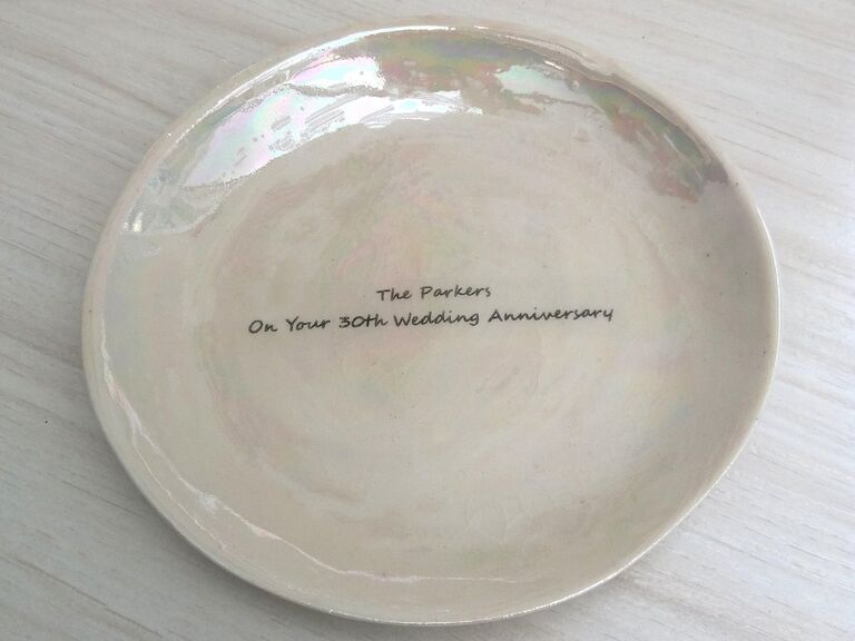 Pearlescent 30th anniversary plate
