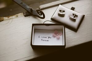 Message in Cuff Links Box