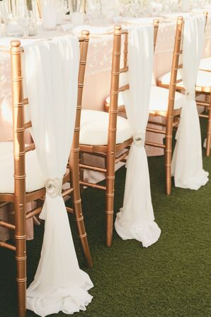 Elegant Chiffon-Draped Chiavari Chairs
