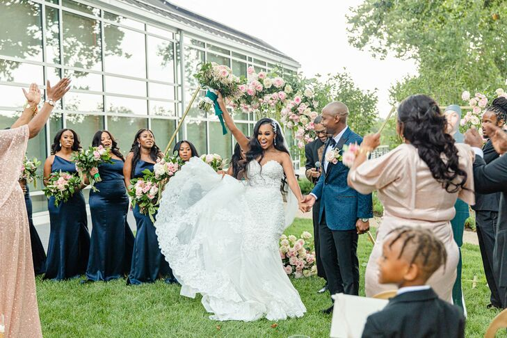Recessional During Ceremony at The River View at Occoquan in Lorton, Virginia