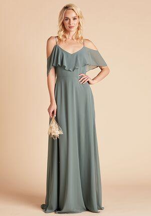 Birdy Grey Jane Convertible Dress in Sea Glass V-Neck Bridesmaid Dress