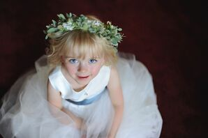 Flower Girl With a Thistle Flower Crown