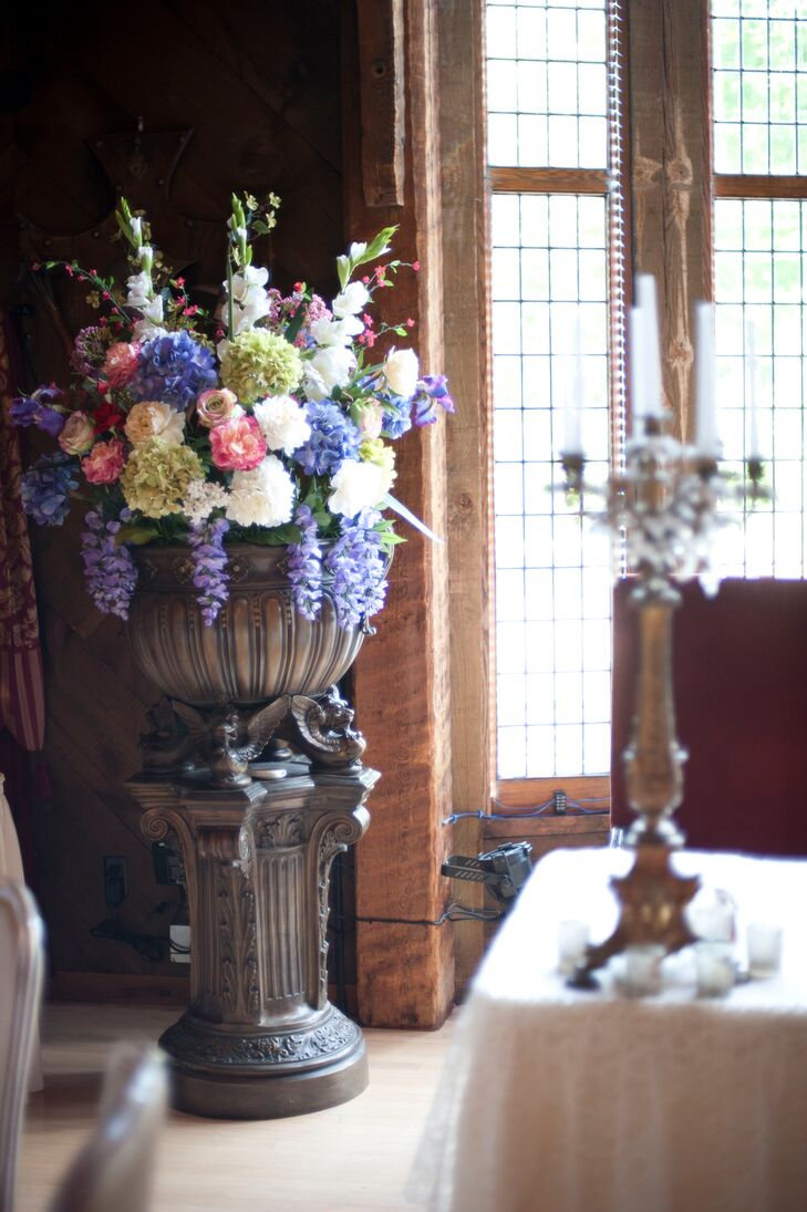 Roses Hydrangeas And Hyacinth Flower Arrangements