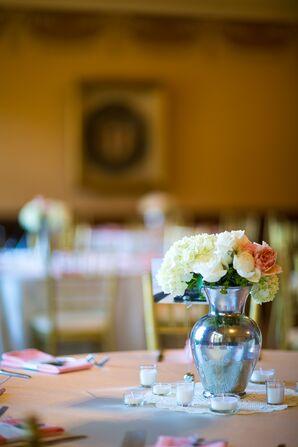 Hydrangea, Roses and Peony Flower Arrangement